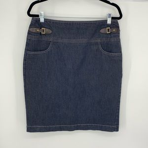 Dressbarn denim pencil skirt size 10